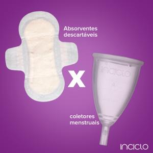 Coletor menstrual é mais sustentável que absorventes descartáveis